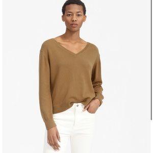Everlane Soft Cotton V-Neck Sweater